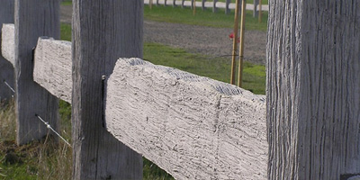 Concrete Post and Rail Fencing​